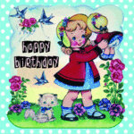Happy Birthday DressUpDolly Card