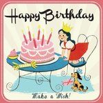 Girls Make a Wish Birthday Card