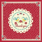 Thank You Vintage Doily Card