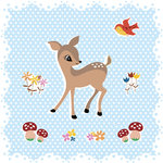 """Woodland Animals"" Greeting Card"
