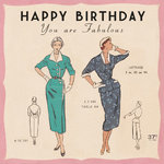 Paris Fashion Birthday Card