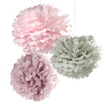 PomPoms 3er Set in Pastellfarben